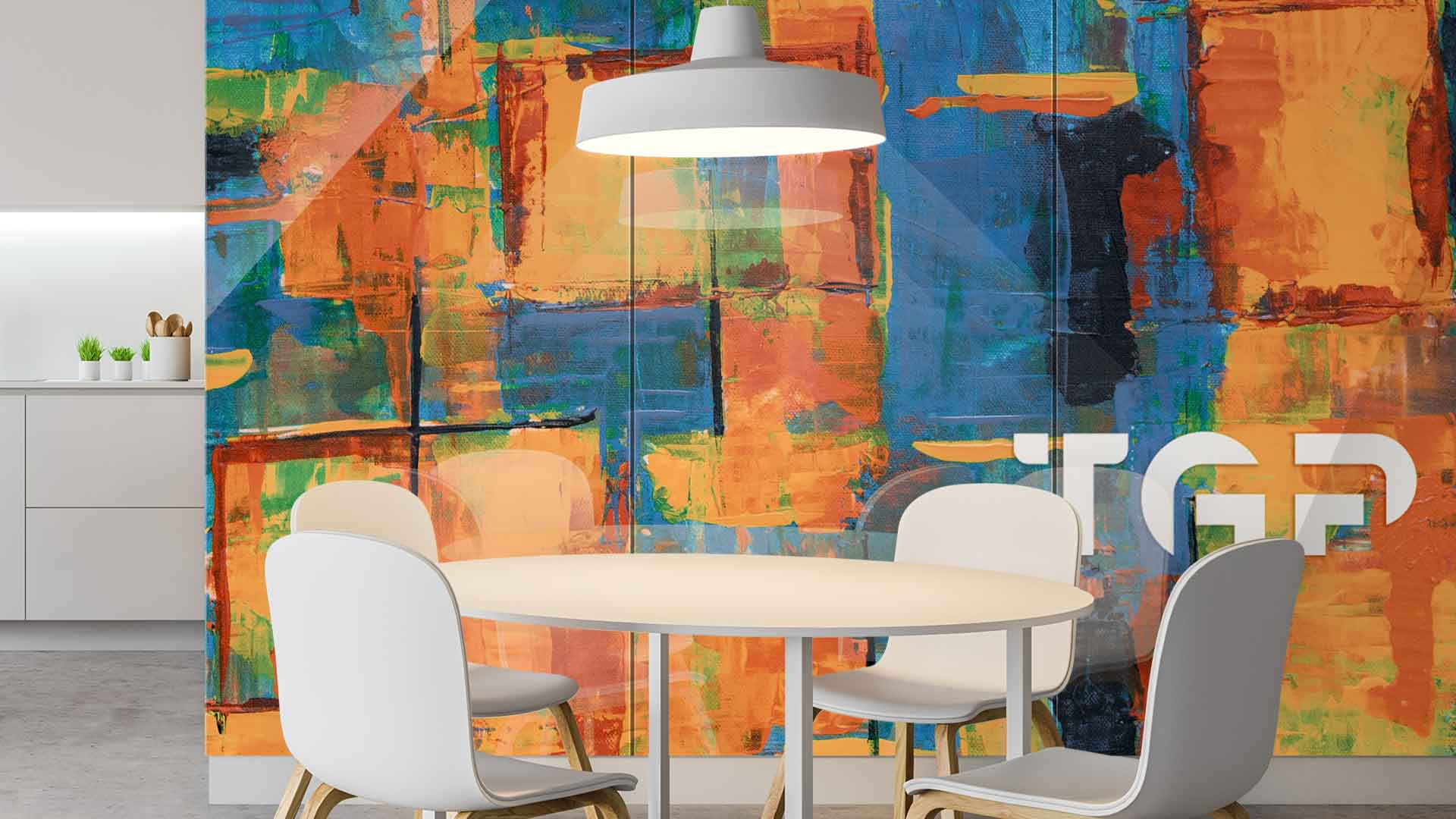 ART001 sticlă printată bucătărie placare perete