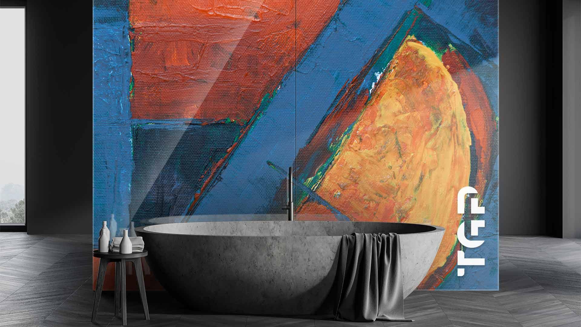 ART003 sticlă printată baie placare perete