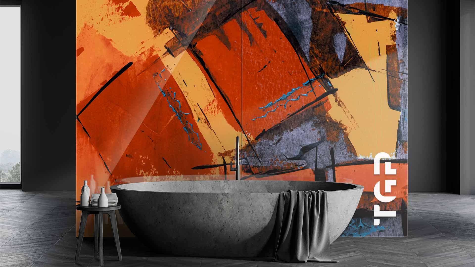 ART005 sticlă printată baie placare perete