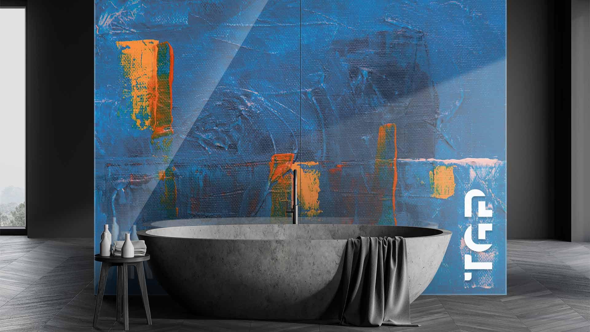 ART006 sticlă printată baie placare perete