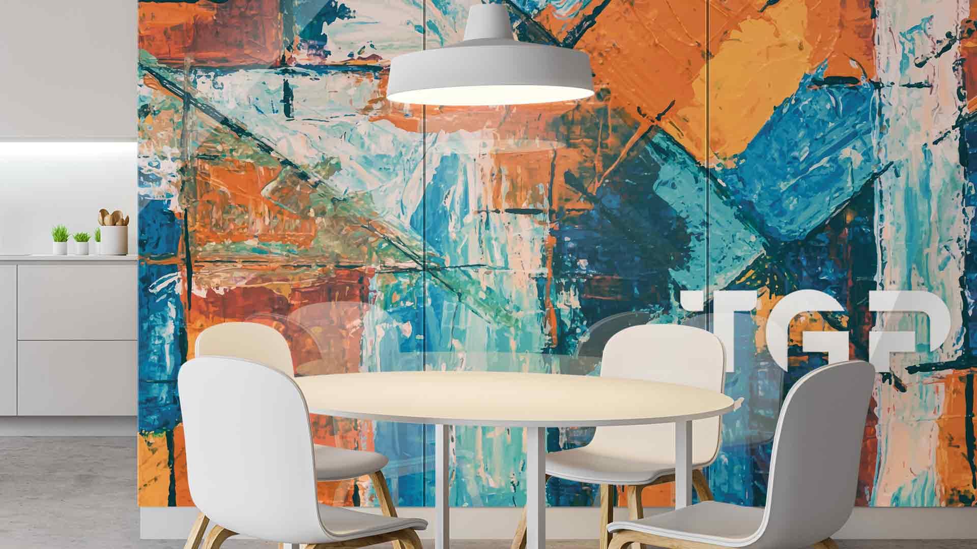 ART012 sticlă printată bucătărie placare perete