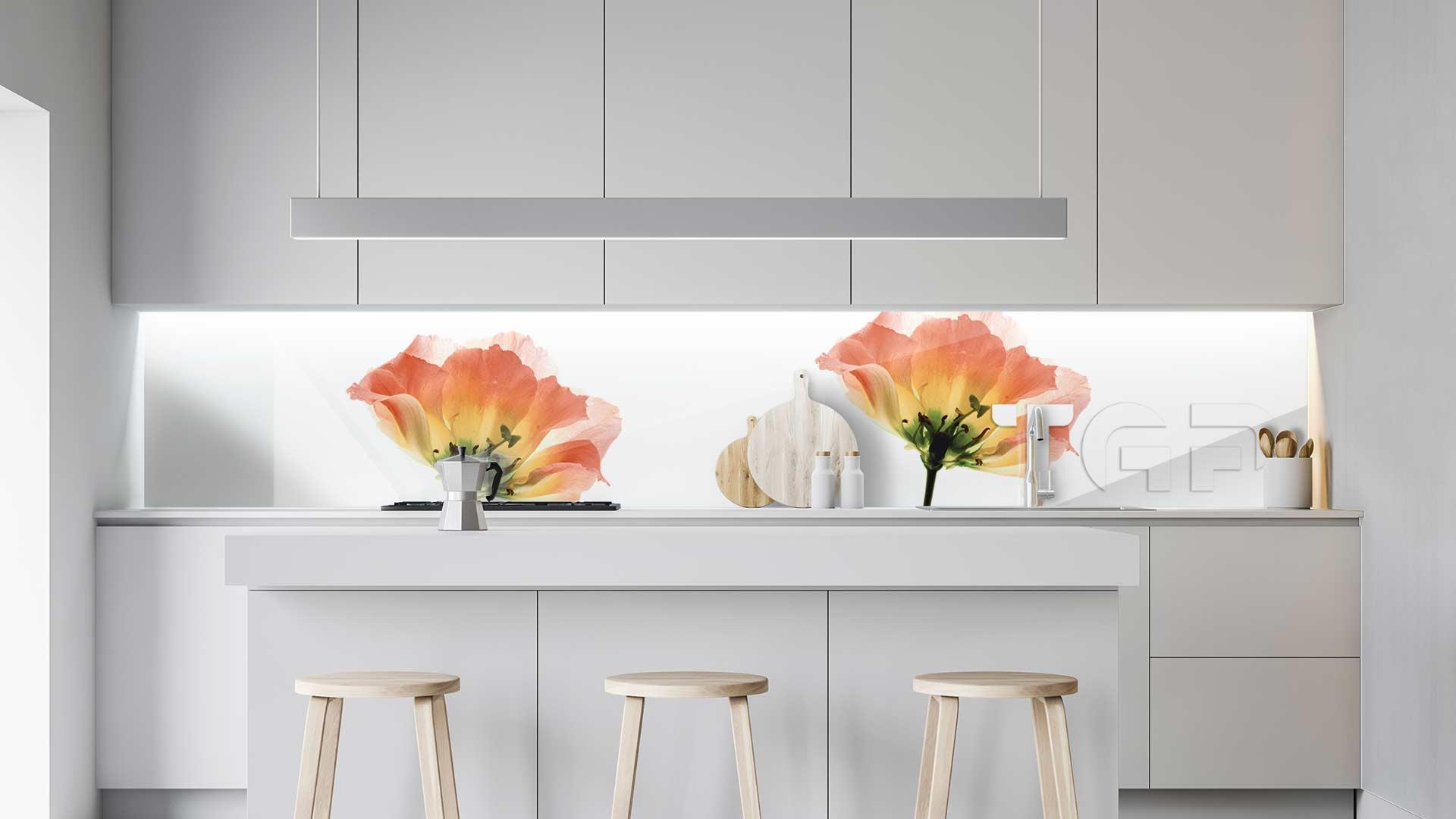 FLW006 sticlă printată bucătărie contrablat