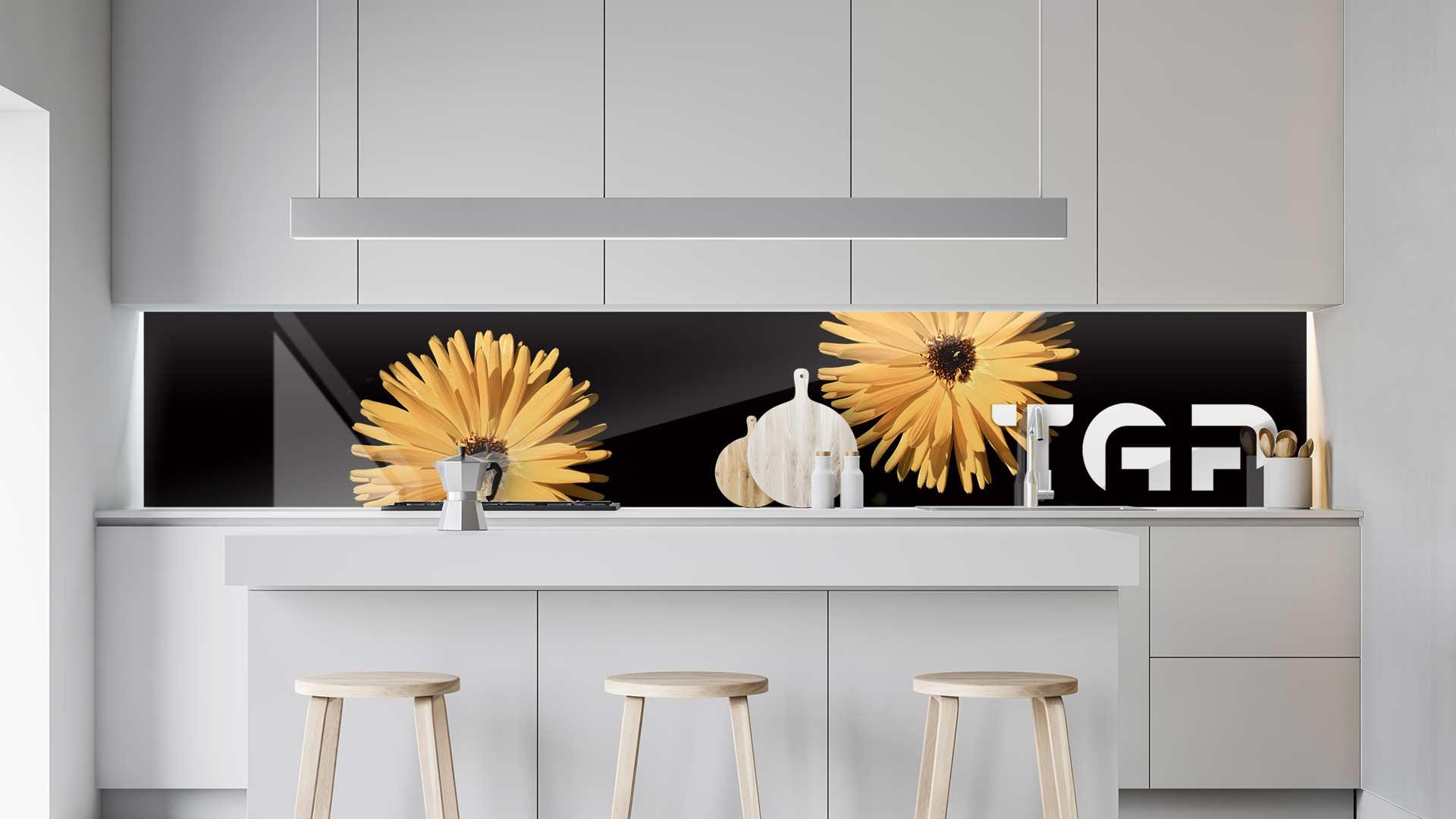 FLW007 sticlă printată bucătărie contrablat