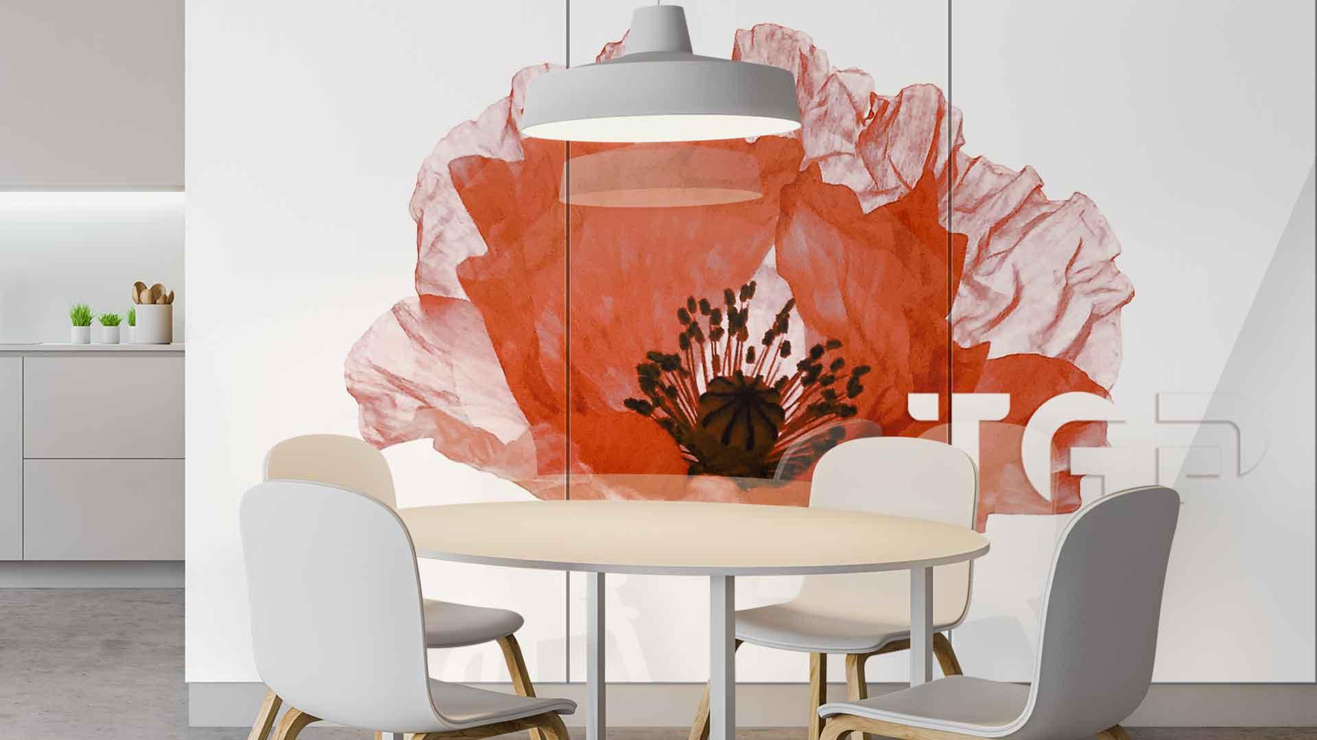 FLW008 sticlă printată bucătărie placare perete