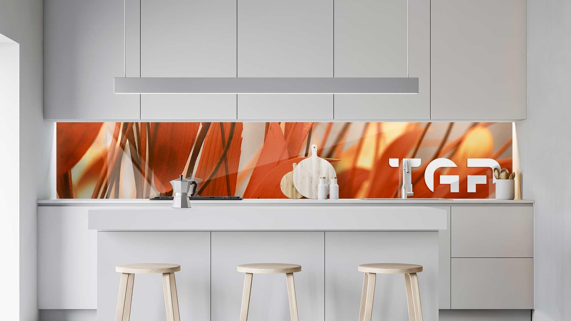 FLW011 sticlă printată bucătărie contrablat