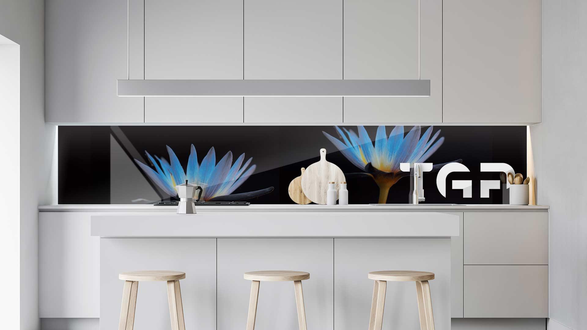 FLW013 sticlă printată bucătărie contrablat
