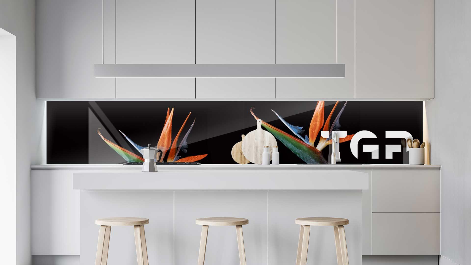 FLW016 sticlă printată bucătărie contrablat