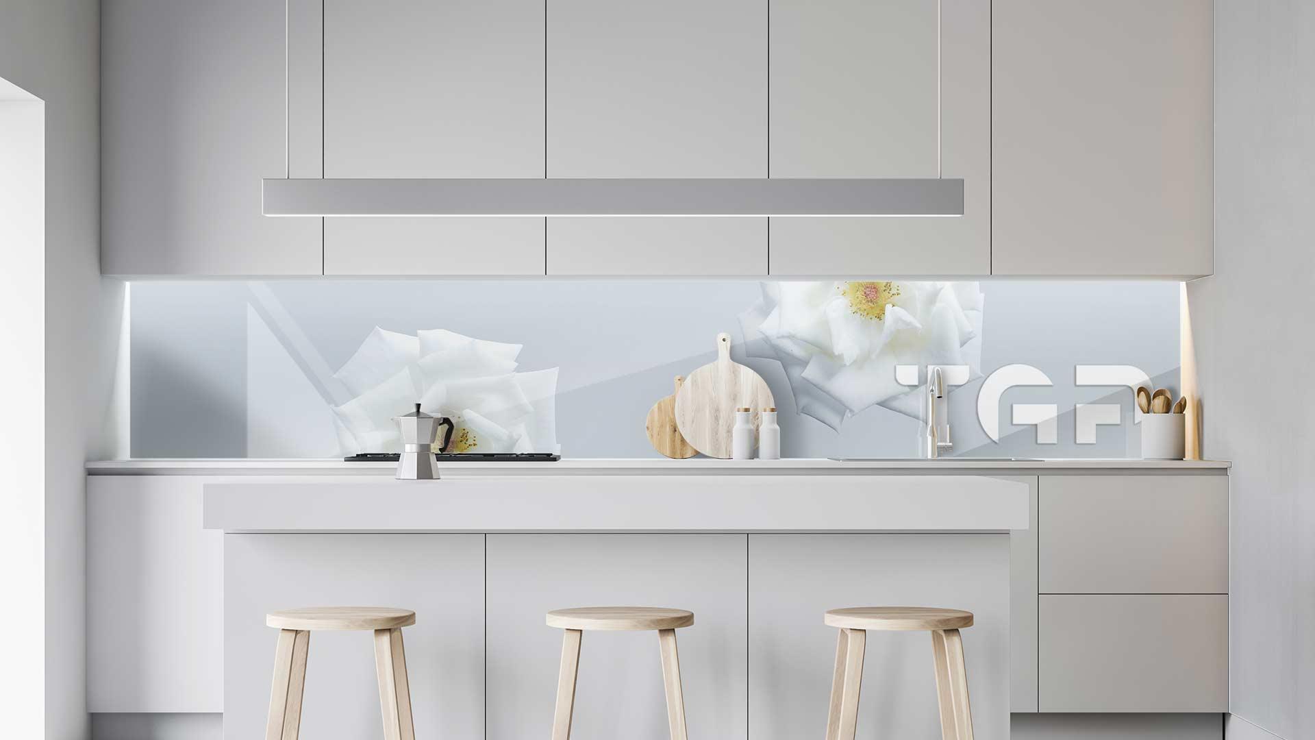 FLW019 sticlă printată bucătărie contrablat