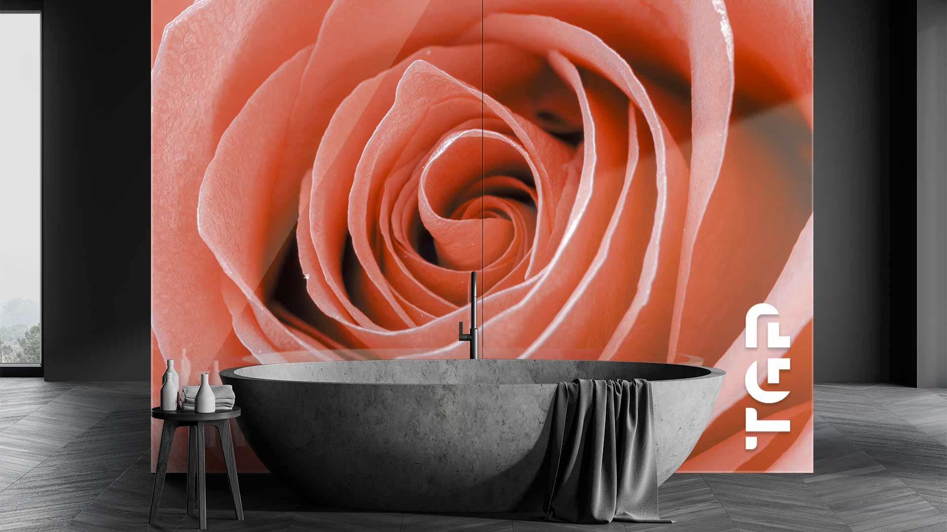 FLR026 sticlă printată baie placare perete