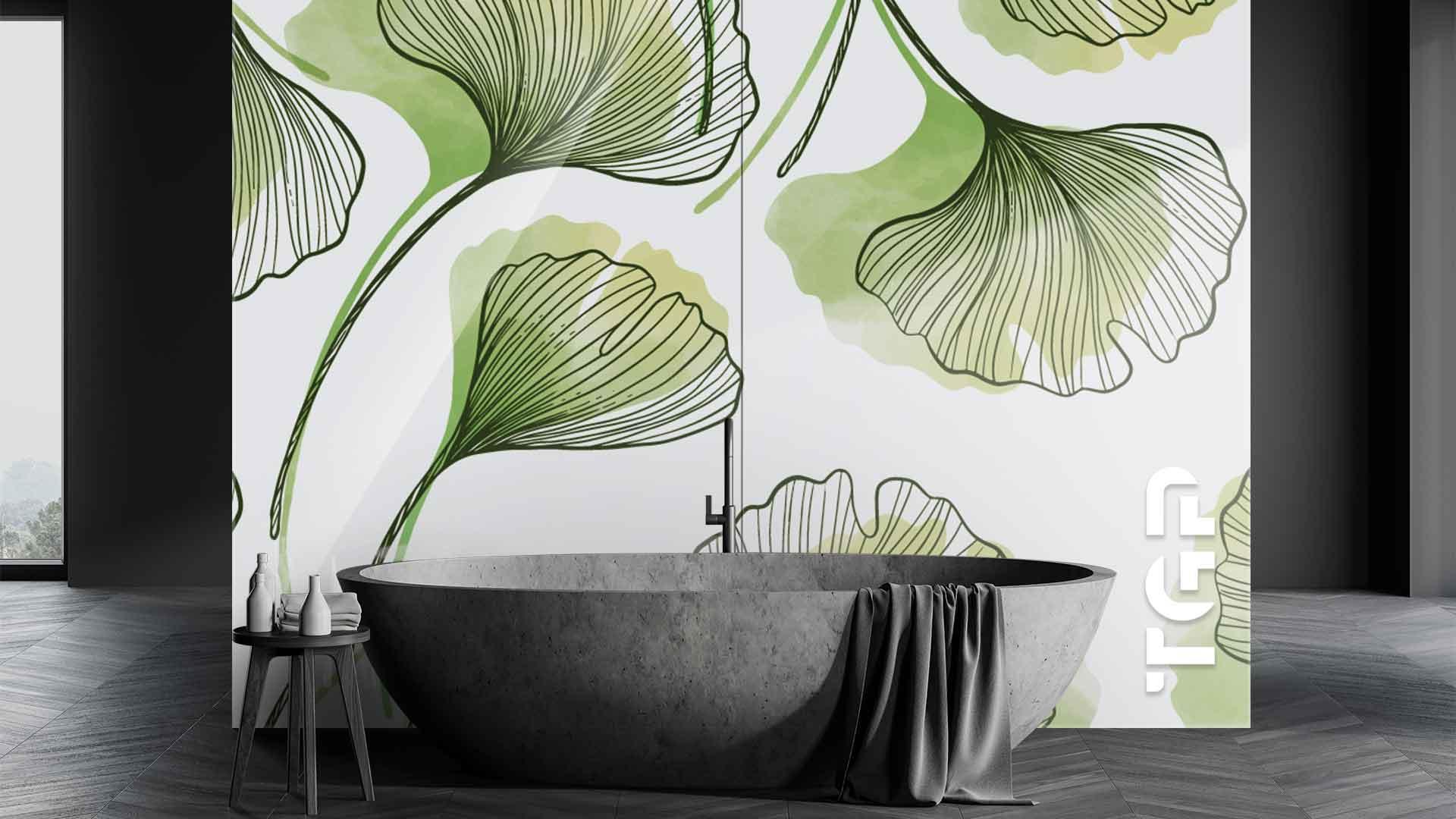 LEF009 sticlă printată baie placare perete
