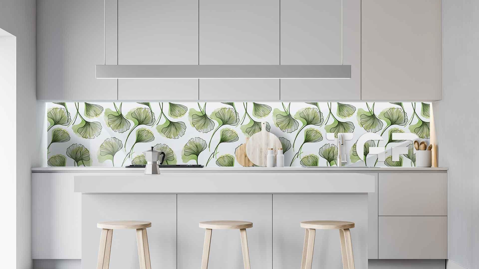 LEF009 sticlă printată bucătărie contrablat