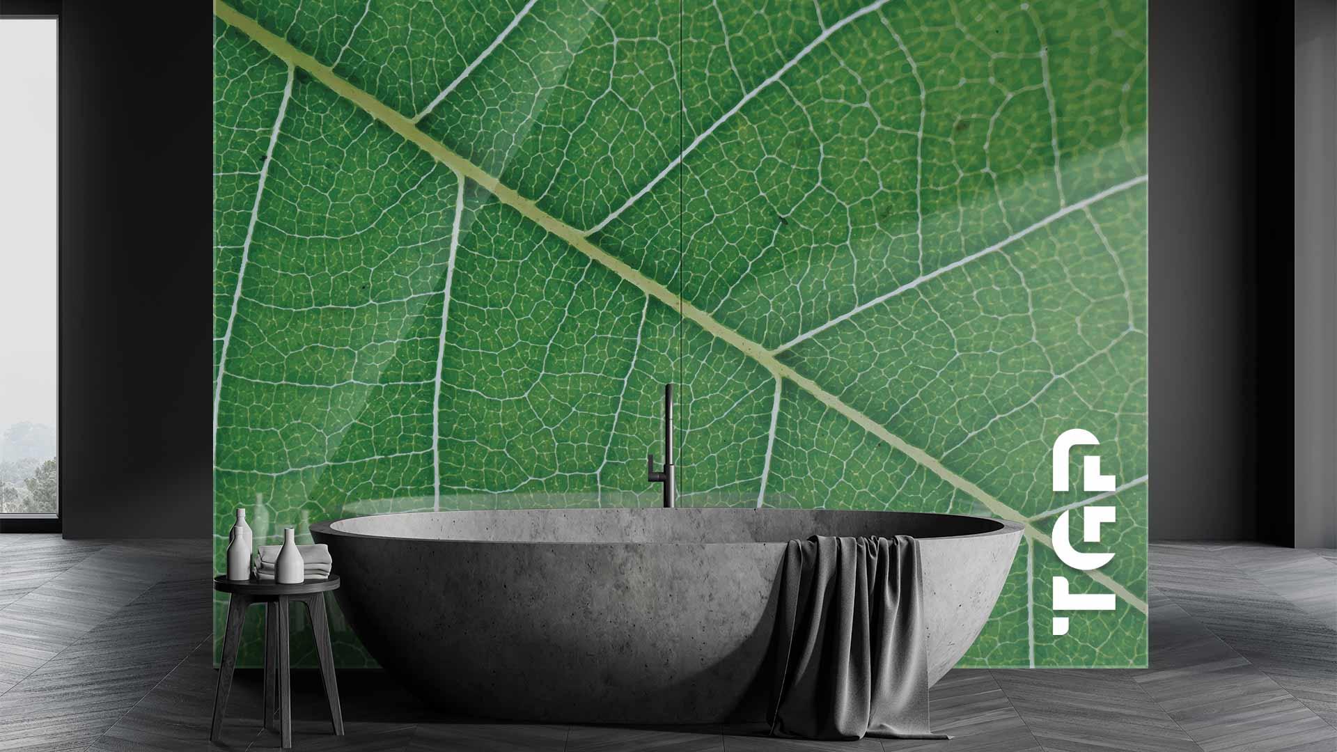 MCR010 sticlă printată baie placare perete