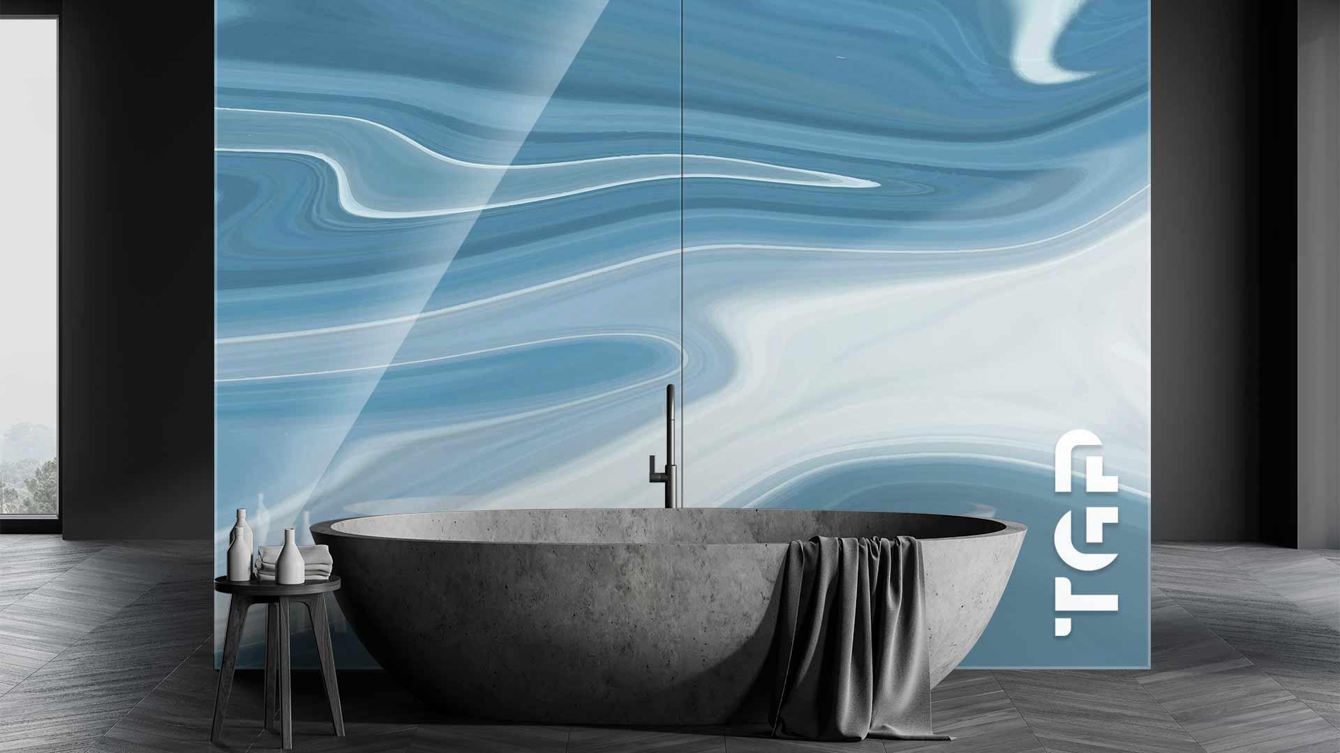 MRB004 sticlă printată baie placare perete