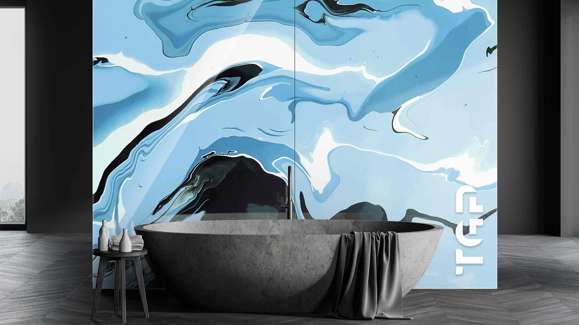 MRB006 sticlă printată baie placare perete