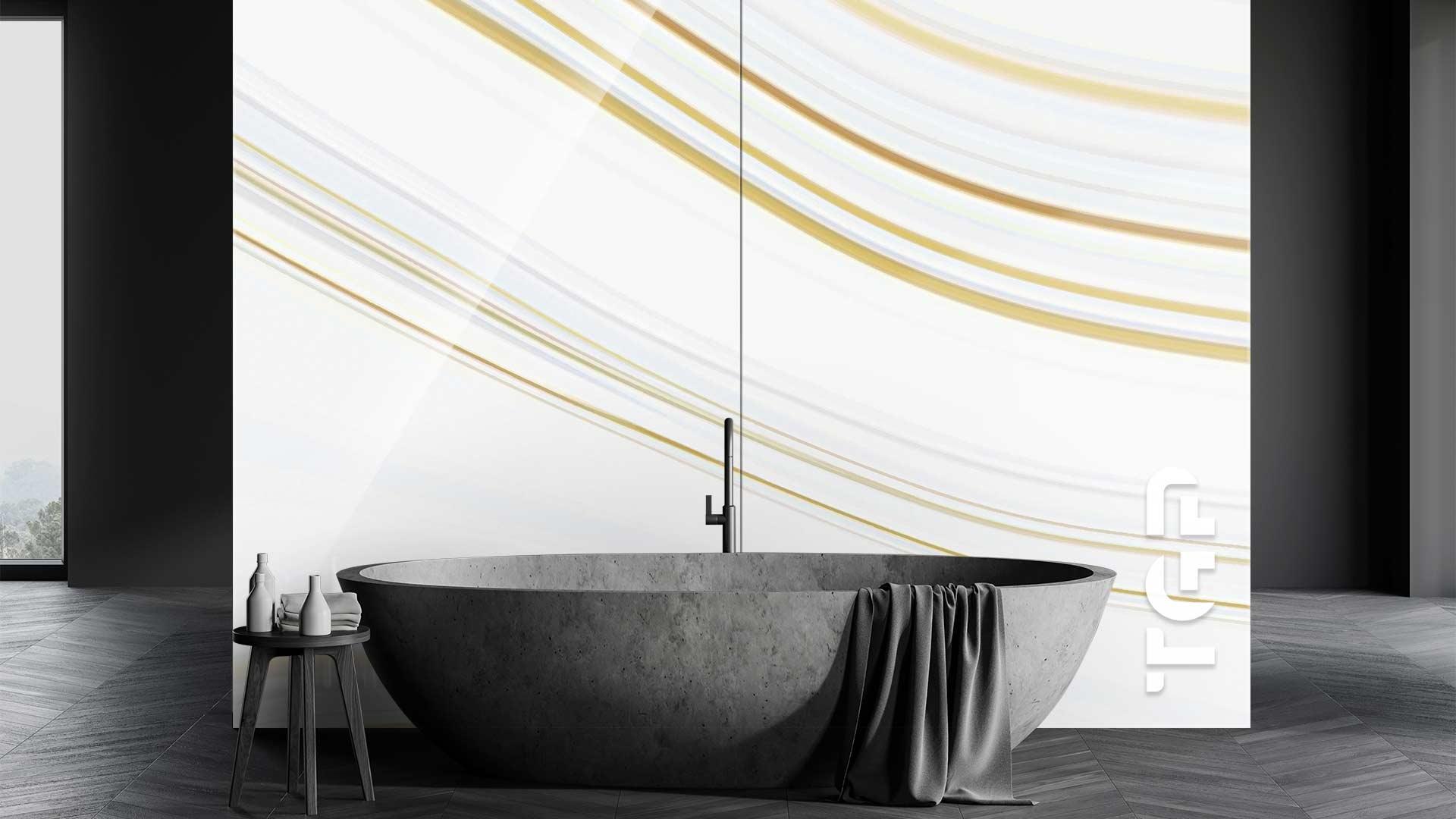 MRB013 sticlă printată baie placare perete