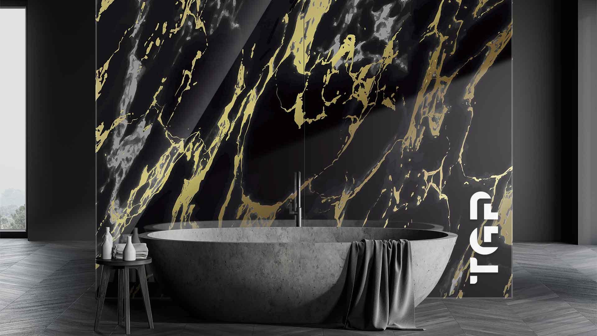 MRB018 sticlă printată baie placare perete