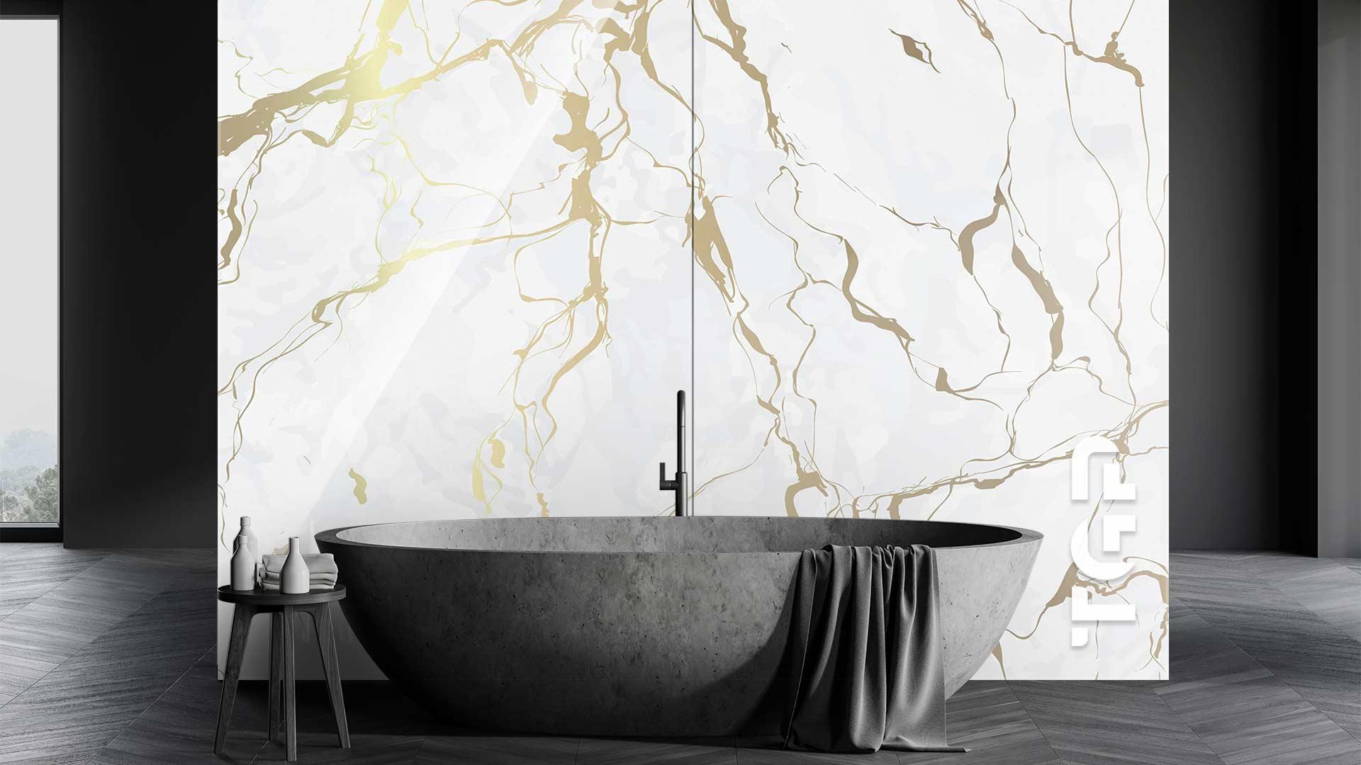 MRB024 sticlă printată baie placare perete
