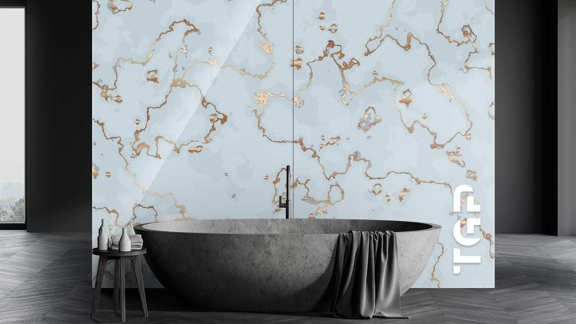 MRB028 sticlă printată baie placare perete