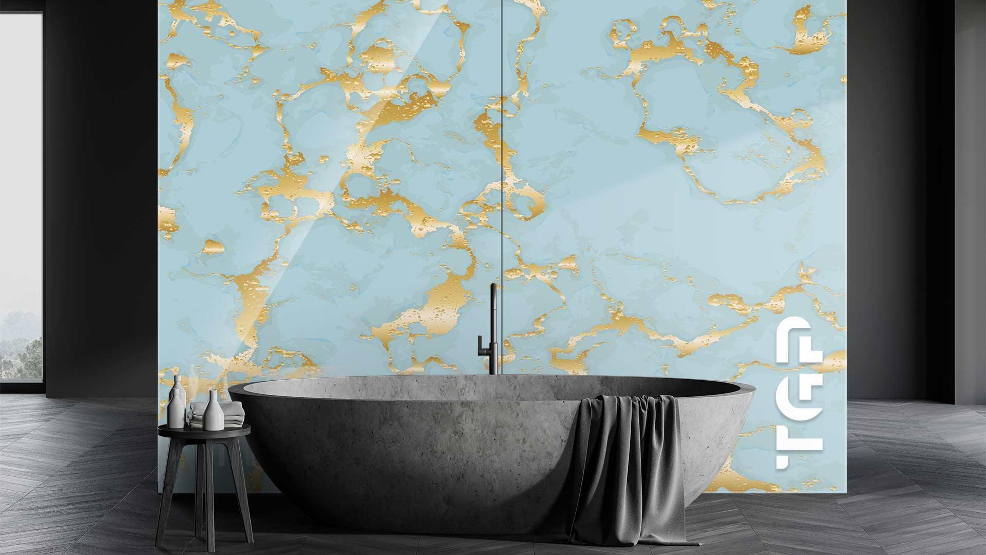 MRB029 sticlă printată baie placare perete