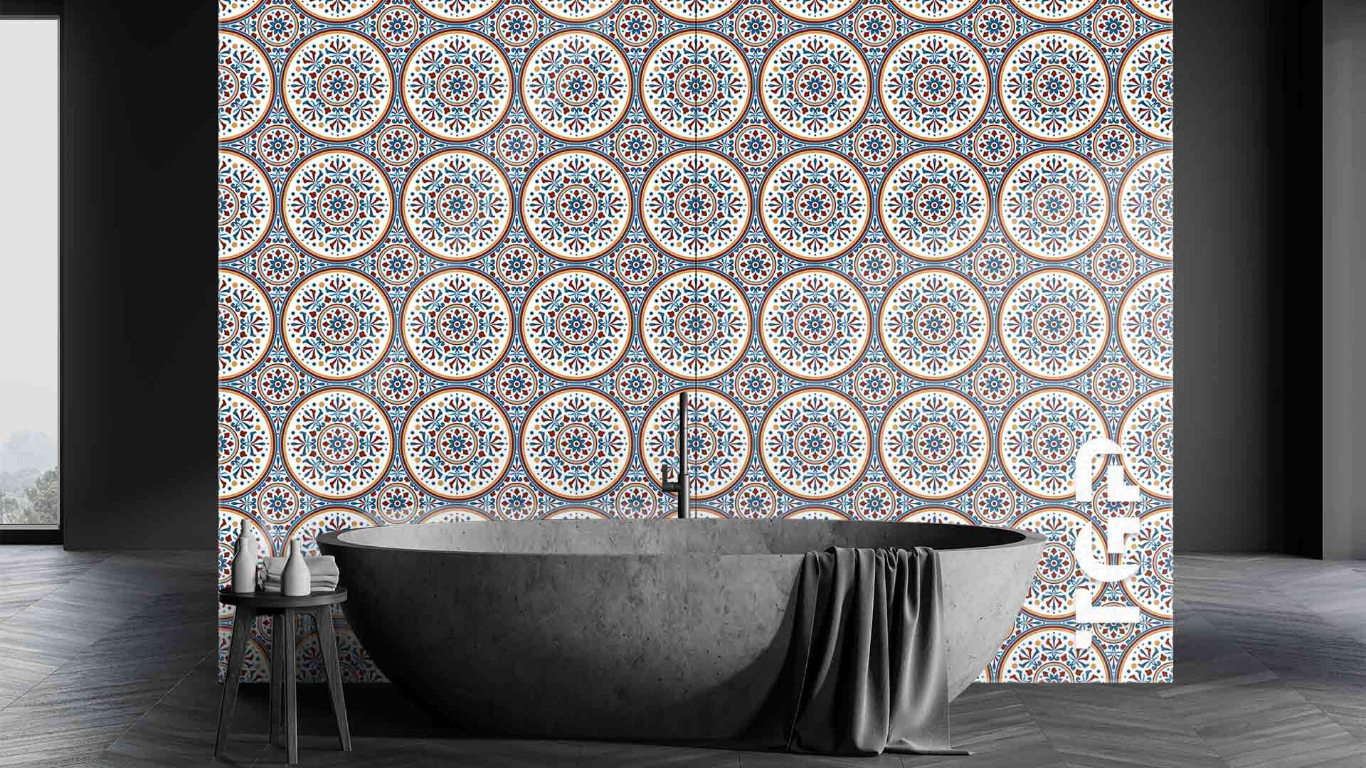 PRC001 sticlă printată baie placare perete