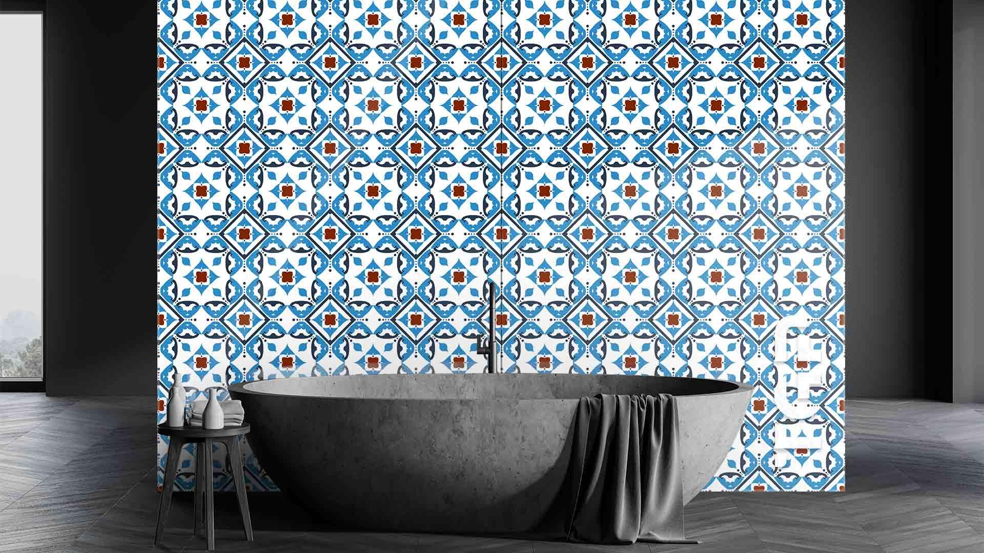 PRC005 sticlă printată baie placare perete