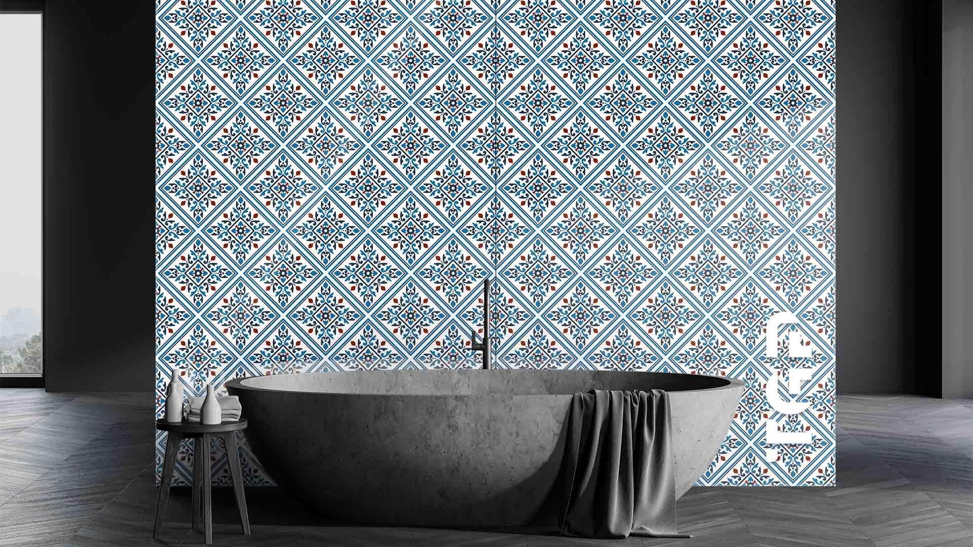 PRC008 sticlă printată baie placare perete