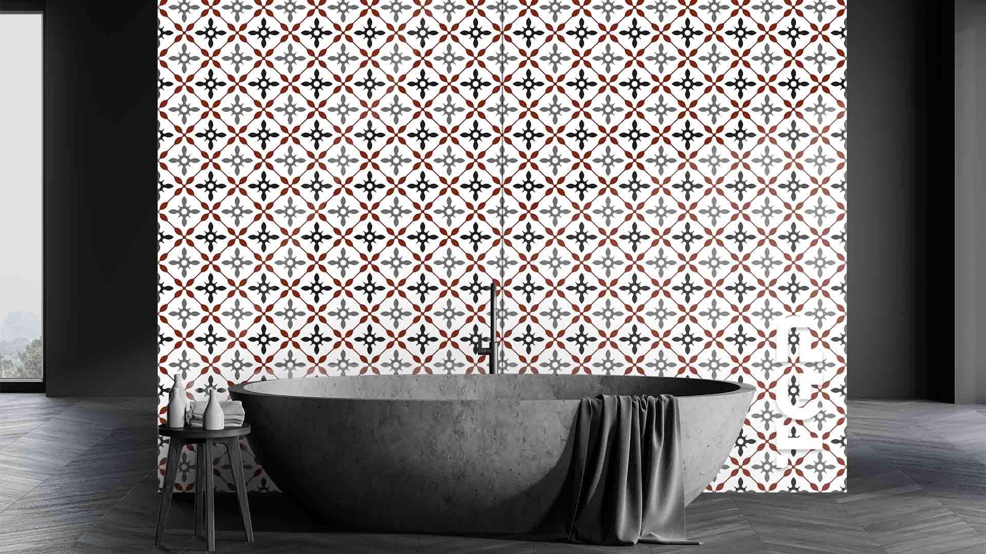 PRC009 sticlă printată baie placare perete