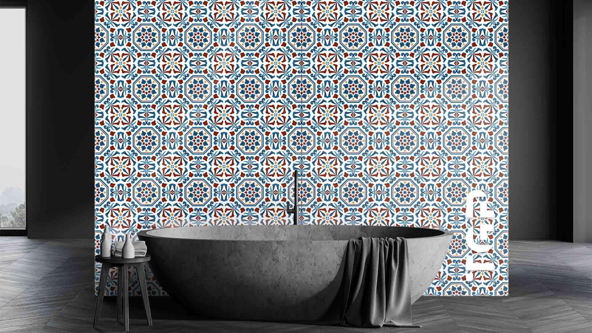 PRC010 sticlă printată baie placare perete