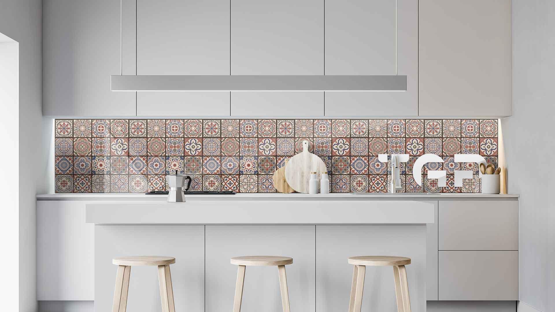 PRC018 sticlă printată bucătărie contrablat