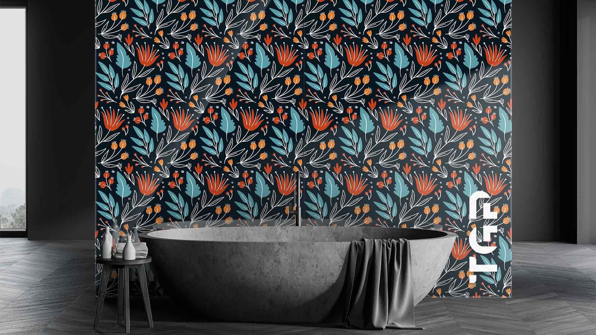 PRM015 sticlă printată baie placare perete