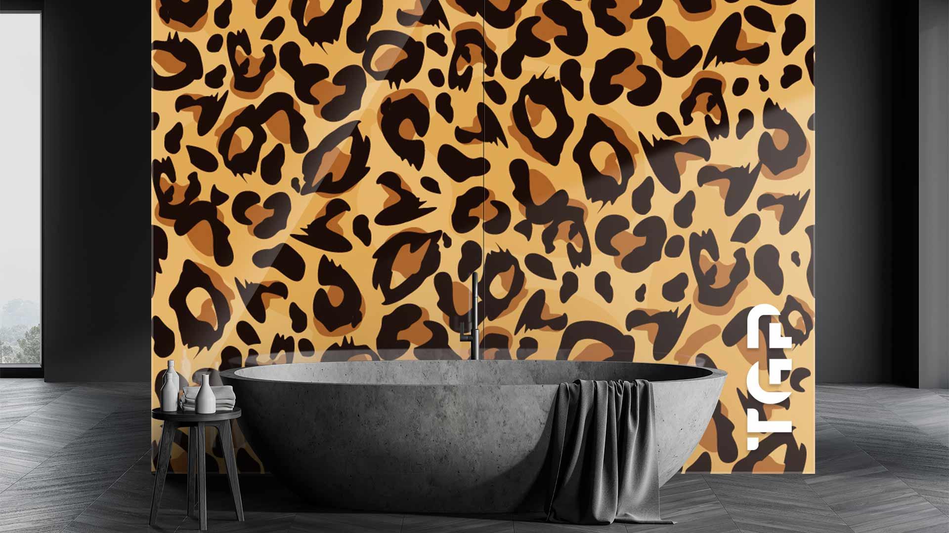 SFR010 sticlă printată baie placare perete