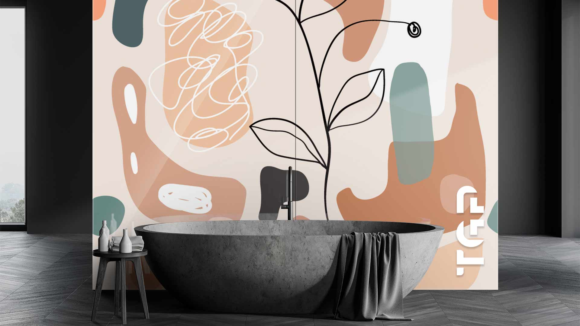 WLP011 sticlă printată baie placare perete